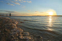 Spring Volga River Sunset Stock Images