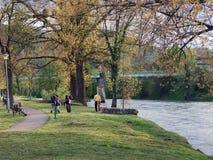 Spring on Vrbas. Spring on river Vrbas in Banja Luka, Bosnia and Herzegovina Royalty Free Stock Image