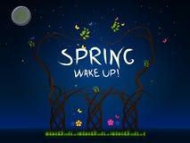 Spring wake up vector illustration
