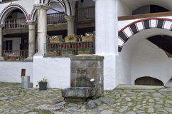 Spring water fountain at Rila monastery Royalty Free Stock Photography