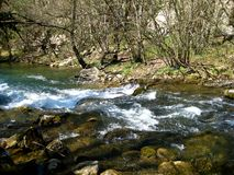 Spring water in mountains of Crimea Royalty Free Stock Photos