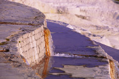 Spring Water Pouring from Channel at Pamukkale Stock Photos
