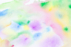 Spring watercolor abstract background. Pastel colors watercolor abstract background Royalty Free Stock Photography