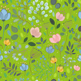 Spring Watercolor Flowers. Vector Seamless Pattern royalty free stock photography
