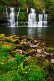 Spring waterfall in the Brecon Beacons Royalty Free Stock Photos