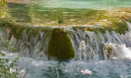 Spring waterfall closeup Royalty Free Stock Images