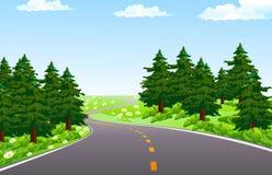 Spring Way vector illustration