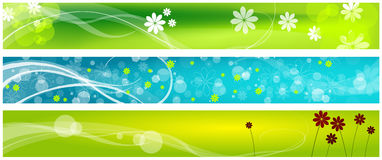 Spring web banners Royalty Free Stock Photography