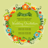 Spring Wedding Invittation. Invitation for wedding or any celebration Royalty Free Stock Photography