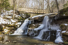 Spring at West Kill Falls Stock Photography