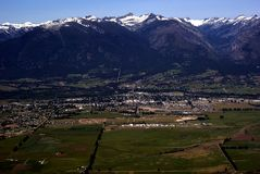 Spring in Western Montana USA. Aerial view of early Spring in rural Western Montana USA Stock Photos