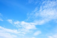 Spring white clouds Stock Photography