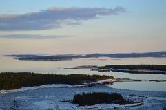 Spring.White Sea.Russia. Landscape White Sea Kandalaksha Bay Royalty Free Stock Photo