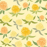Spring wildflowers seamless pattern Stock Photo
