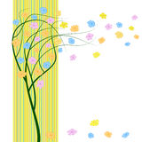 Spring wind tree with flowers. Abstract  spring wind tree with flowers Stock Photos