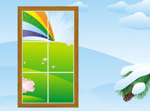 Spring in the window Royalty Free Stock Photo