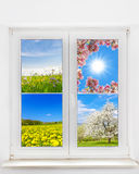 Spring window Stock Photo