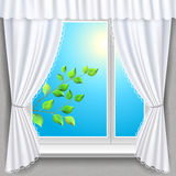 Spring window Royalty Free Stock Photography