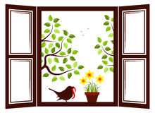 Spring window Stock Photo