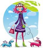 Spring winkelend meisje 7 op Royalty-vrije Stock Foto