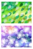 Spring and winter Stock Image