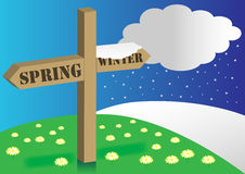 Spring / Winter Background royalty free illustration