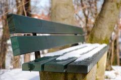 Spring/Winter bench Stock Photos