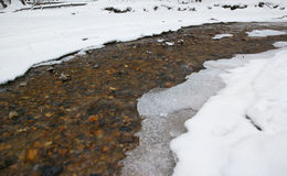 Spring or winter small river Royalty Free Stock Photo
