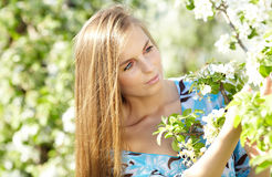 Spring woman Royalty Free Stock Photos