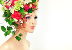 Free Spring Woman. Royalty Free Stock Photo - 56352065