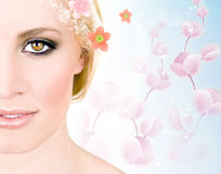 Spring woman Stock Image
