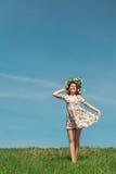 Spring woman stock photos