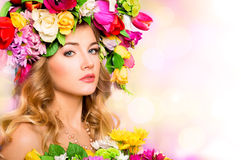 Spring woman, beauty portrait Royalty Free Stock Photo
