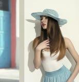 Spring woman in fashion shoot Stock Photos