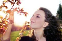 Spring woman portrait Stock Images