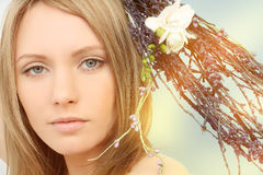 Spring woman, portrait Stock Photos