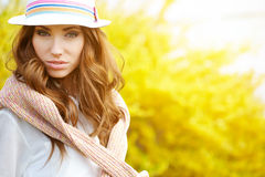 Spring woman in summer day Stock Image