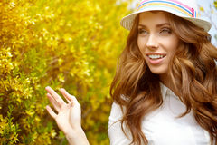 Spring woman in summer day Royalty Free Stock Image