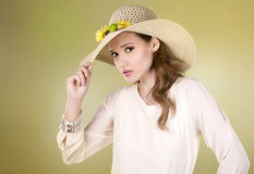 Spring woman Stock Photography