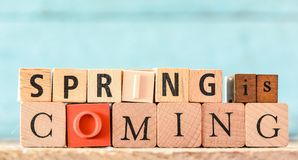 Spring Wooden Letterpress Theme Royalty Free Stock Photo