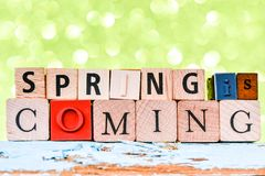 Spring Wooden Letterpress Theme Royalty Free Stock Images