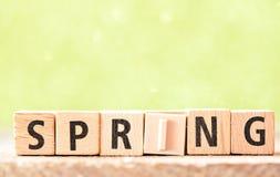 Spring Wooden Letterpress Theme Royalty Free Stock Photos
