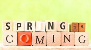 Spring Wooden Letterpress Theme Stock Images