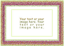 Spring, wool frames Royalty Free Stock Photography
