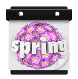 Spring Word Calendar Flowers Bloom Time Plant Grow Royalty Free Stock Photos