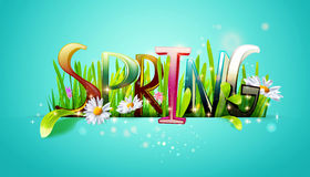 Spring word Royalty Free Stock Photos