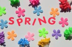 Spring word Stock Photos