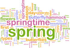 Spring wordcloud Stock Photos