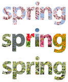 Spring Words Abstract Stock Images