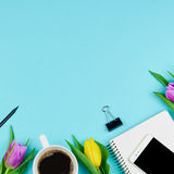 Spring workplace Royalty Free Stock Images